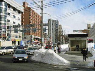 白石駅周辺の街並み