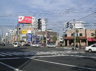 麻生駅周辺の街並み