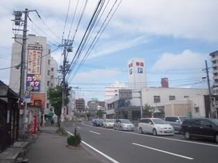 平岸駅周辺の街並み