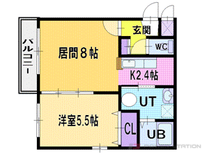 札幌市厚別区厚別中央2条2丁目0賃貸マンション間取図面