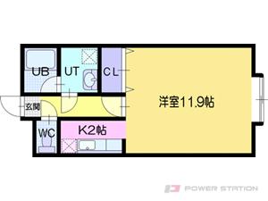 札幌市厚別区厚別東4条9丁目1賃貸マンション間取図面