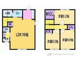 札幌市厚別区厚別東1条3丁目0テラスハウス間取図面