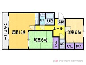 札幌市厚別区厚別東5条8丁目1賃貸マンション間取図面