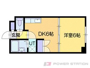 札幌市厚別区厚別東4条8丁目1賃貸マンション間取図面