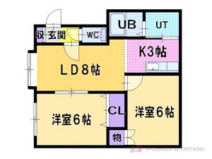 札幌市厚別区厚別東4条8丁目1賃貸アパート間取図面