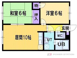 札幌市厚別区厚別西4条3丁目1賃貸マンション間取図面