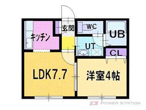 札幌市厚別区厚別西4条4丁目0賃貸アパート間取図面