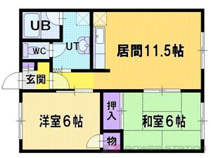 札幌市厚別区厚別西4条5丁目1賃貸アパート間取図面