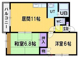 札幌市厚別区厚別西3条5丁目0賃貸アパート間取図面