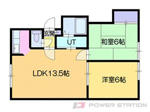 札幌市厚別区厚別西2条5丁目0賃貸アパート間取図面