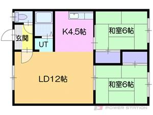 札幌市厚別区厚別北1条2丁目0賃貸アパート間取図面