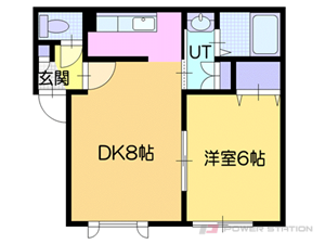 札幌市厚別区厚別北1条2丁目1賃貸アパート間取図面