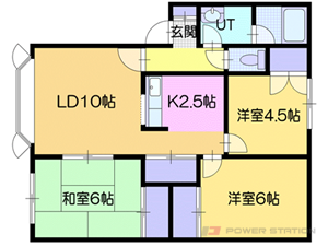 札幌市厚別区厚別北1条1丁目0賃貸マンション間取図面