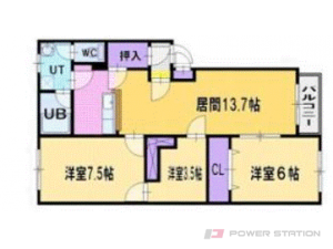 札幌市厚別区厚別北1条3丁目1賃貸マンション間取図面