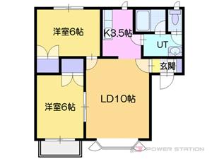 札幌市厚別区厚別北1条3丁目0賃貸アパート間取図面