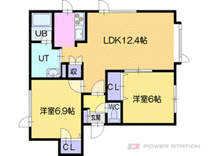 札幌市厚別区厚別東4条7丁目1賃貸アパート間取図面