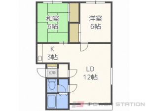 札幌市厚別区厚別東3条7丁目0賃貸アパート間取図面