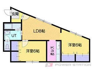 札幌市厚別区厚別西3条1丁目1賃貸アパート間取図面