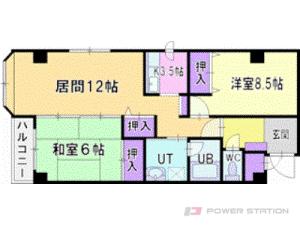 札幌市厚別区厚別西3条1丁目1賃貸マンション間取図面