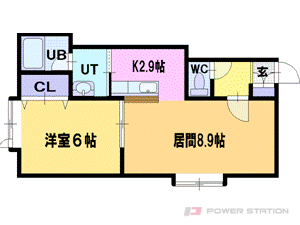 札幌市厚別区厚別西2条3丁目0賃貸アパート間取図面