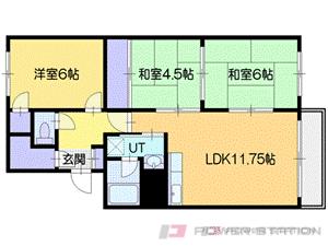 厚別3LDKマンション図面
