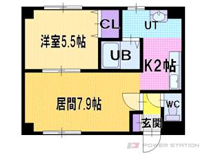 札幌市厚別区厚別中央5条6丁目0賃貸マンション間取図面