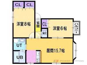 札幌市厚別区厚別東5条2丁目0賃貸アパート間取図面