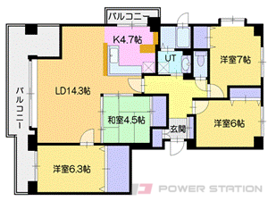 札幌市厚別区厚別東5条1丁目0分譲リースマンション間取図面