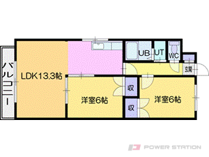 札幌市厚別区厚別東3条4丁目1賃貸マンション間取図面