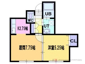 札幌市厚別区厚別東3条4丁目0賃貸アパート間取図面
