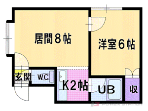 札幌市厚別区厚別東4条5丁目1賃貸アパート間取図面