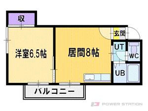 札幌市厚別区厚別東2条5丁目0賃貸マンション間取図面