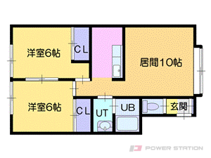 札幌市厚別区厚別西1条1丁目1賃貸アパート間取図面
