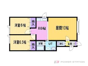 厚別2LDKアパート図面
