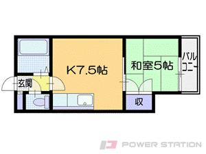 札幌市厚別区厚別中央5条2丁目0賃貸マンション間取図面