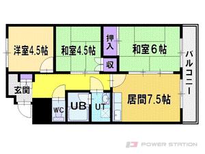 札幌市厚別区厚別中央5条3丁目0賃貸マンション間取図面