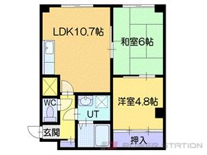 札幌市厚別区厚別中央5条2丁目1賃貸マンション間取図面