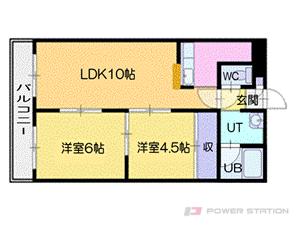 新札幌2LDKマンション図面