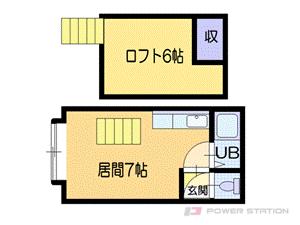 札幌市厚別区厚別中央5条3丁目0賃貸アパート間取図面