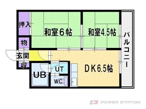 札幌市厚別区厚別中央5条4丁目0賃貸マンション間取図面