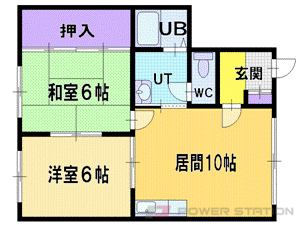 札幌市厚別区厚別中央4条4丁目0賃貸アパート間取図面