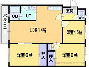 札幌市厚別区厚別中央3条4丁目0賃貸マンション間取図面