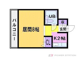新札幌1Kマンション図面