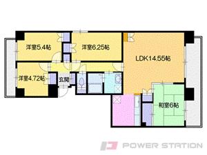 札幌市厚別区厚別中央2条6丁目0分譲リースマンション間取図面