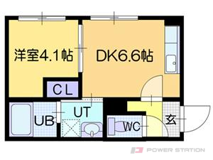 新さっぽろ1DKマンション図面