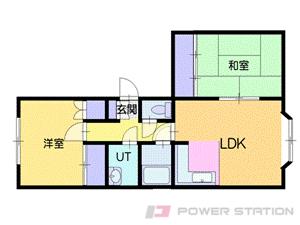 札幌市厚別区厚別中央2条6丁目0賃貸マンション間取図面