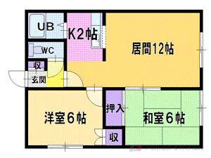 札幌市厚別区厚別東3条3丁目0賃貸アパート間取図面