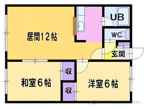 札幌市厚別区厚別東3条3丁目1賃貸アパート間取図面