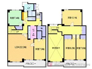 新さっぽろ5LDK分譲リースマンション図面