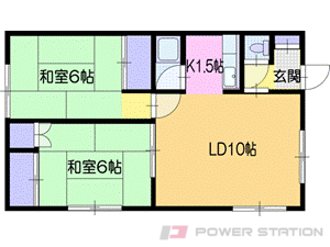 札幌市厚別区厚別東2条4丁目1賃貸アパート間取図面